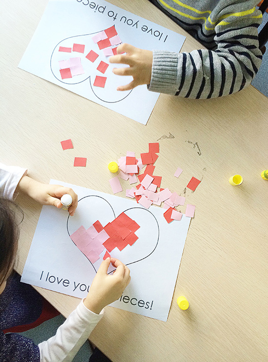 super simple valentine's day craft / free download.