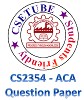 CS2354 / CS64 / 10144 CS604 – Advanced Computer Architecture (ACA) - May / June 2013 Question paper