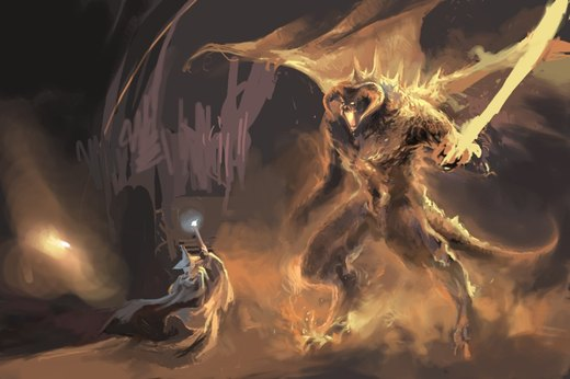 Gandalf and Balrog por niuner