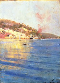 The Point Wharf Mosman Bay - Arthur Streeton painting