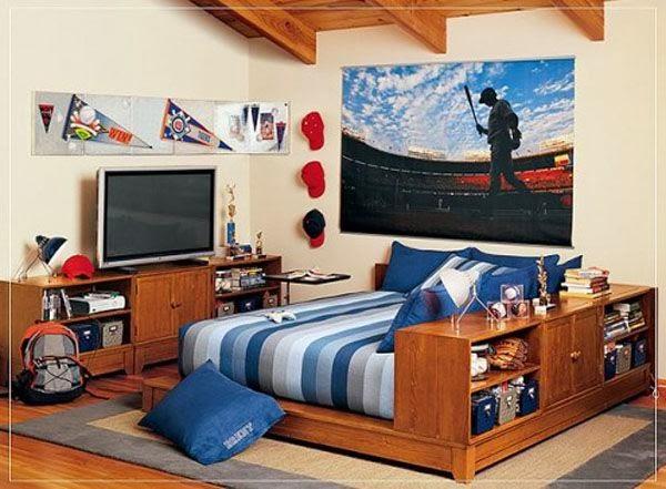 Decoração de quarto juvenil para rapaz