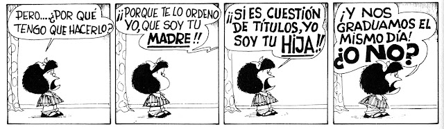 Mafalda comic with English translation