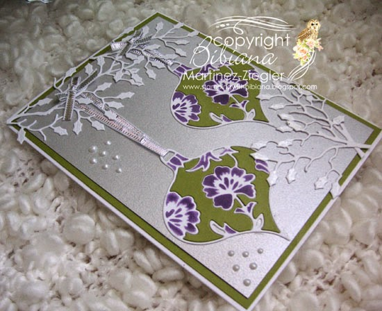 ornament christmas inlay flat card