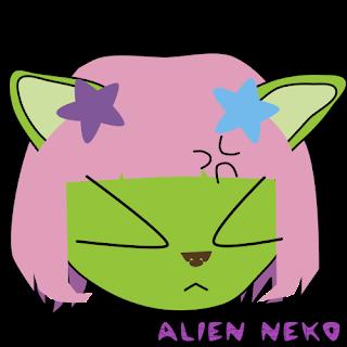 Irritated emoji - smileys - emoticons squint alien neko cat