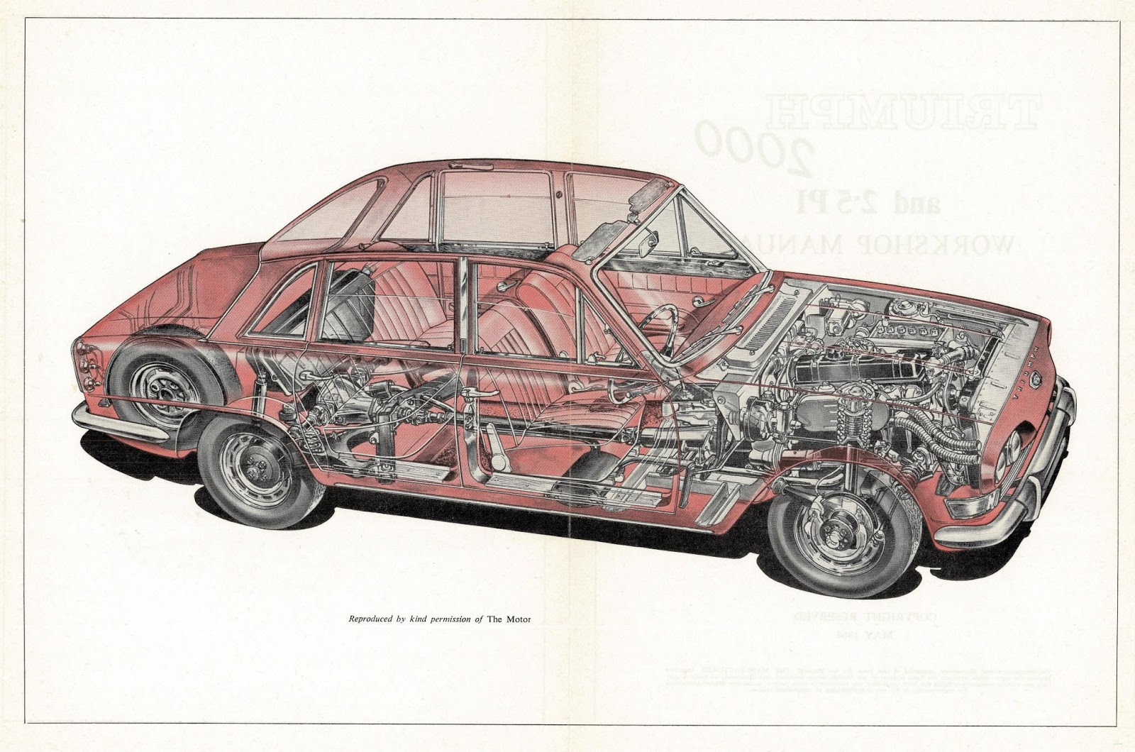 Triumph 2000 cut away image