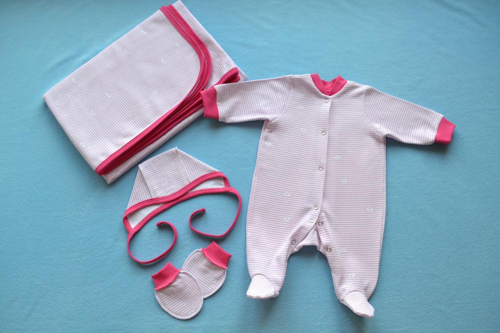 комплект на выписку, пеленка для новорожденного, царапки, чепчик