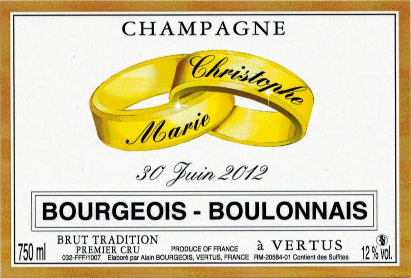 etiquette champagne personnalise mariage alliances - Tiquette Personnalise Champagne Mariage