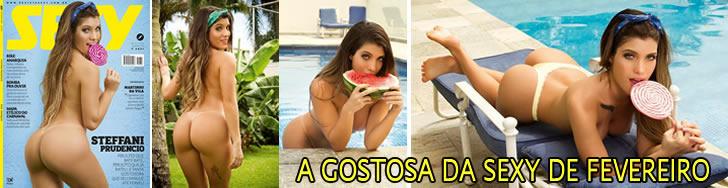 A gostosa Steffani Prudêncio pelada na Sexy de fevereiro, veja fotos