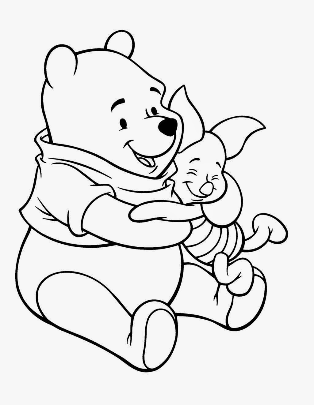 Winnie the pooh coloring pages for kids for Winnie the pooh thanksgiving coloring pages