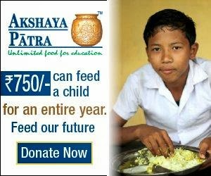 We support Akshaya Patra