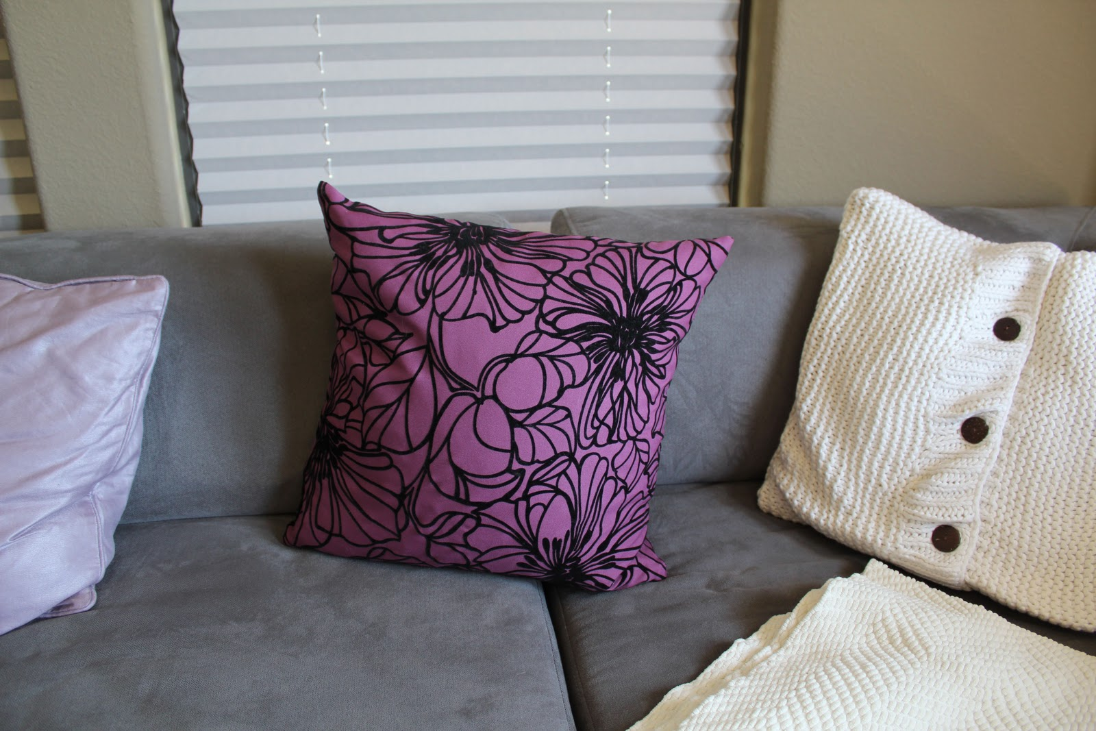Marshalls Home Goods Decorative Pillows : Veronika s Blushing: Home Tour: Updates w/ Furniture & Decor