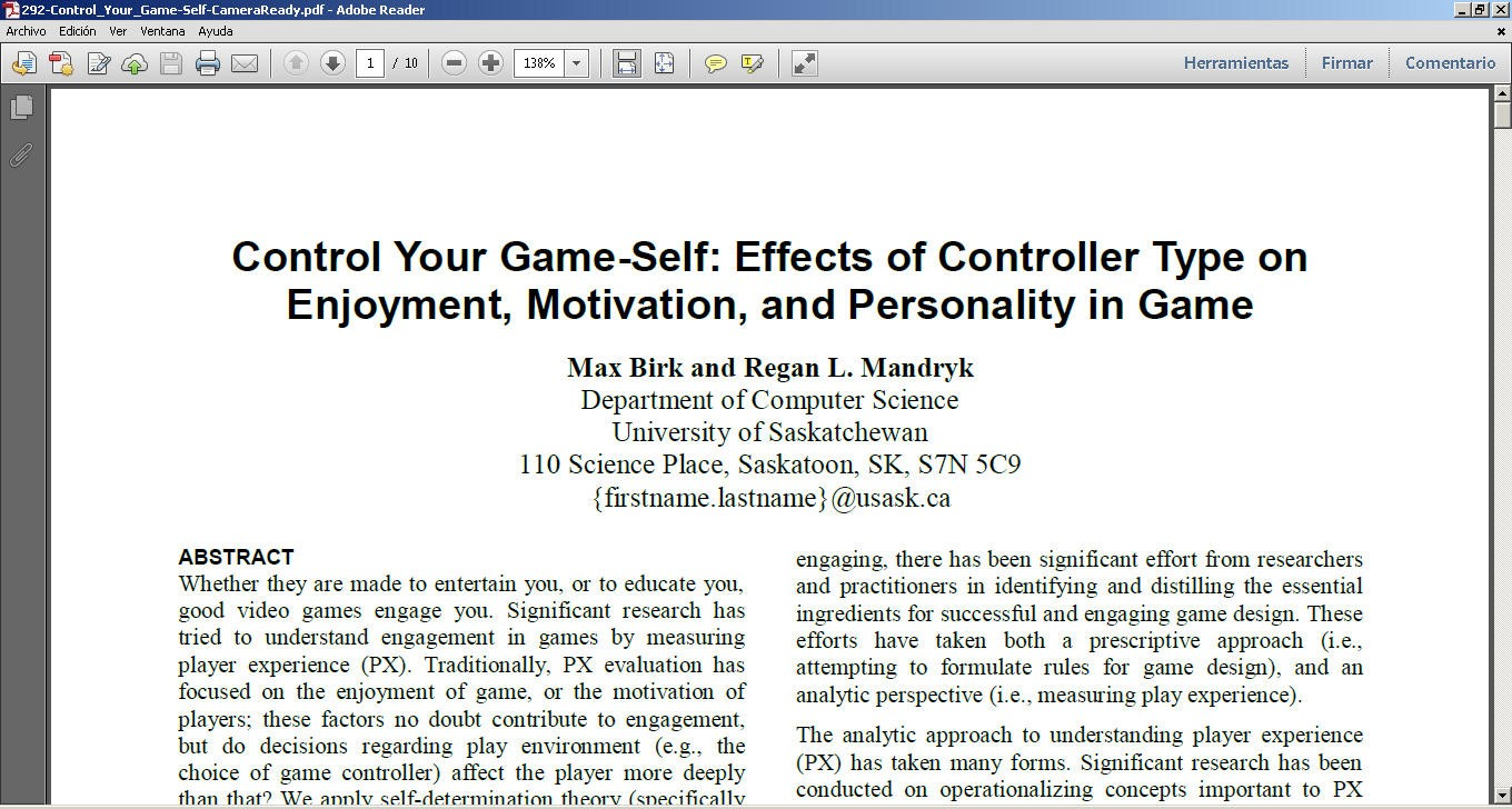 essays on self control