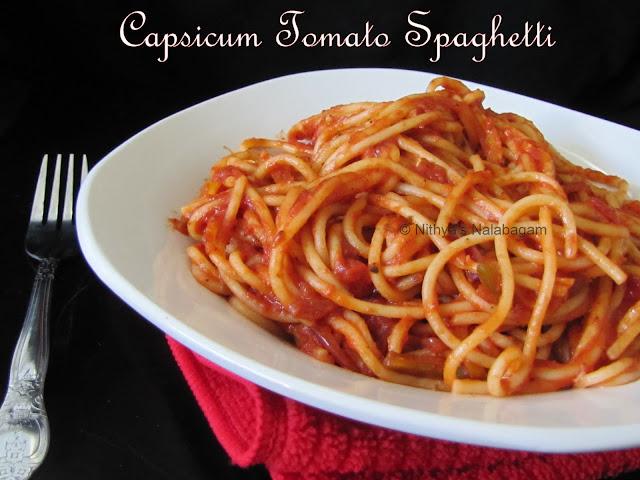 Tomato Capsicum Spaghetti