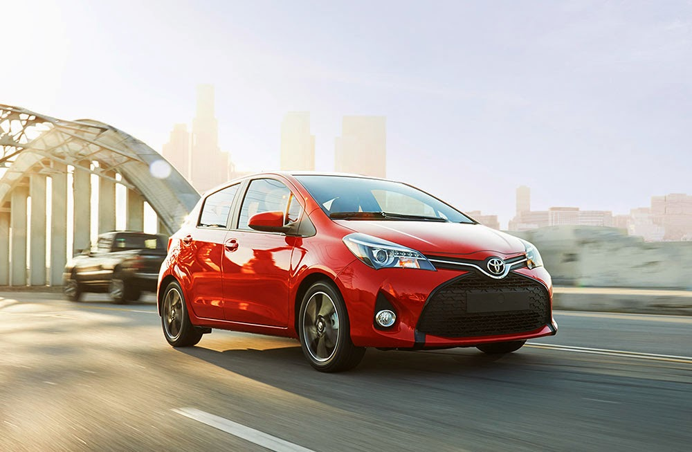 2015 Toyota Yaris driving