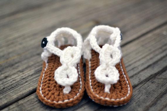 Sandalias a crochet-modelos niñas