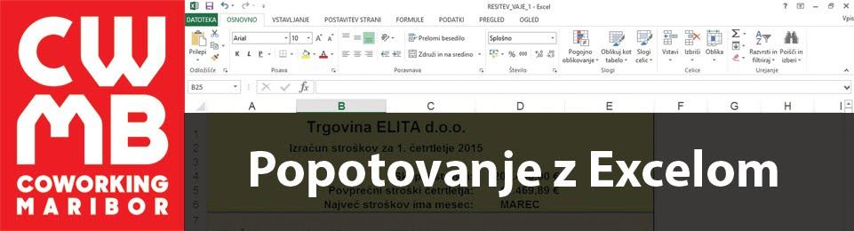 Popotovanje po Excelu