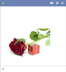 Rose and gift emoticon