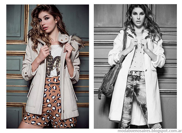 Tapados de moda invierno 2015 Ossira. Moda invierno 2015.