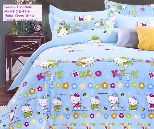Sprei Jepang Motif Hello Kitty Biru