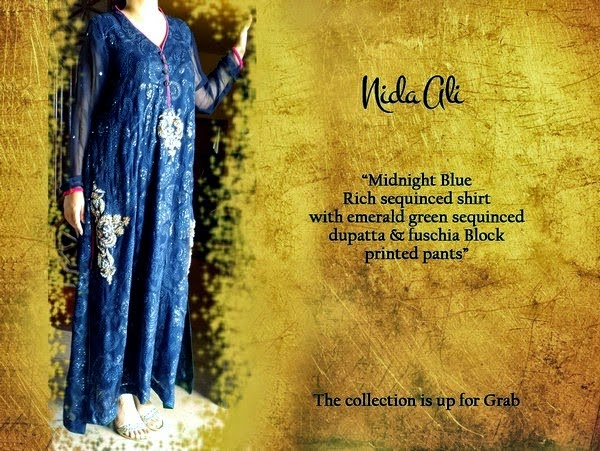 Nida Ali Luxury Pret Eid Collection 2014