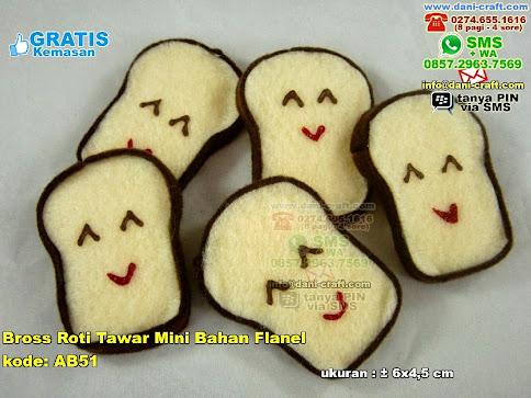Bross Roti Tawar Mini Bahan Flanel Flanel