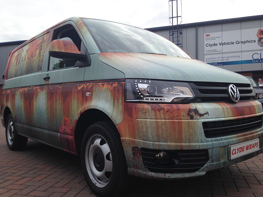 08-Clyde Wraps-Car-Vinyl-Wrap-with-the-Rust-Treatment-www-designstack-co