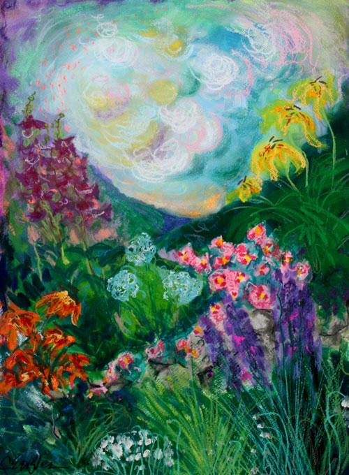 Carol Engles Art: Dream Garden Four, abstract mixed media painting ...