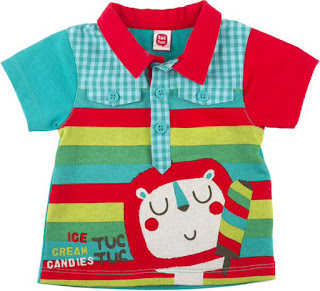 Tuc Tuc Ice Cream - Boys Striped Polo