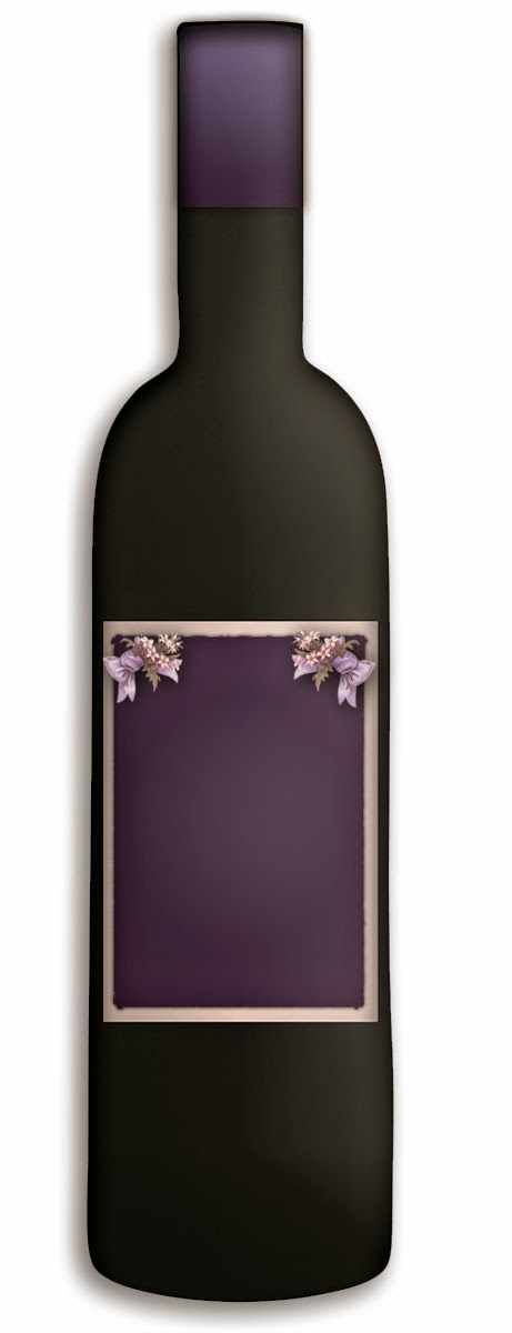 free graphics wine bottle blank label purple