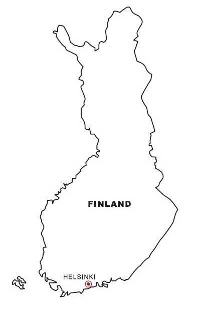LAMINAS PARA COLOREAR - COLORING PAGES: Mapa y Bandera de Finlandia ...