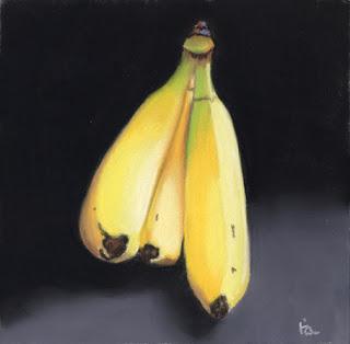 banana pastel painting - food art