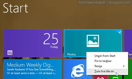 """Cara Mengubah Gambar pada Live Tile Aplikasi """"Photos"""" 4"""
