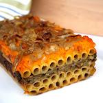 Pasta al Forno con Carciofi, Zucca e Scalogno Caramellato