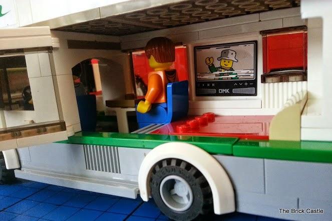 LEGO Camper Van model 60057 motorhome interior view front