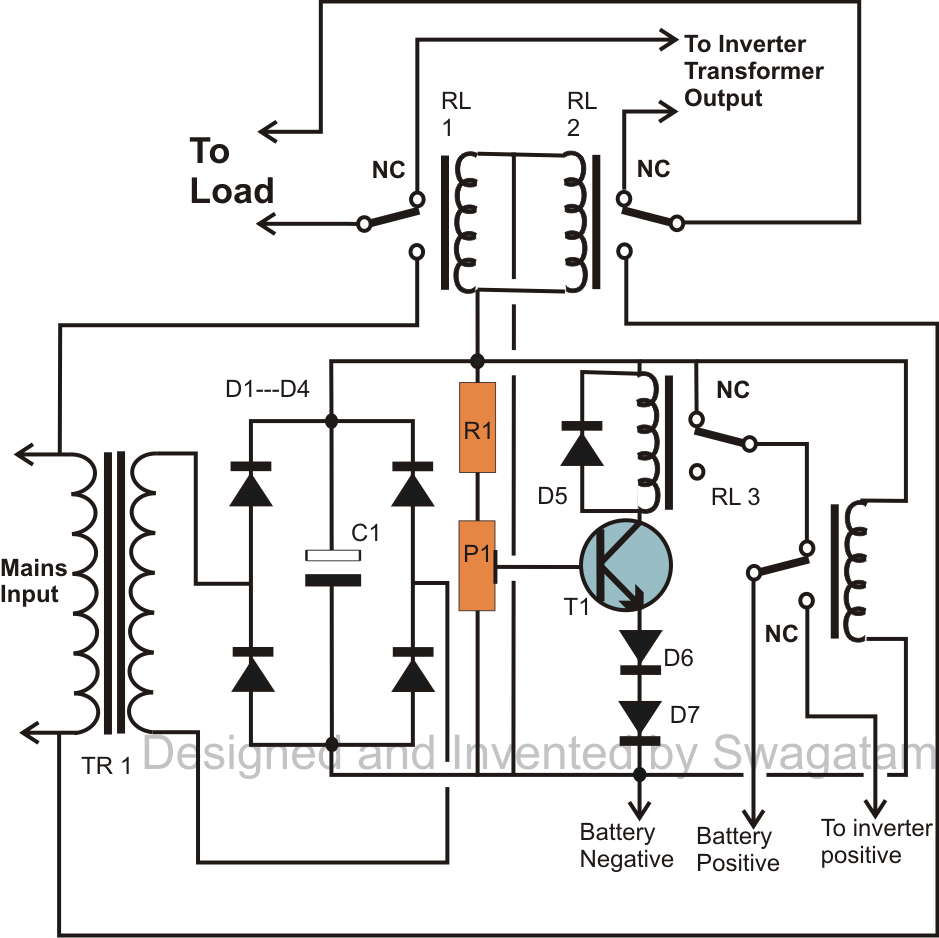 how to make a simplest 200 va uninterrupted power supply  ups  circuit