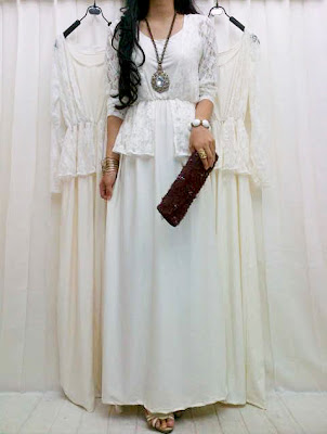 Maxi Dress Korea Brukat Kode DN 270072