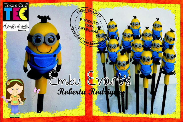 lápis decorado minions