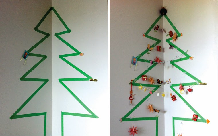 mima + moo: DIY : masking tape christmas tree