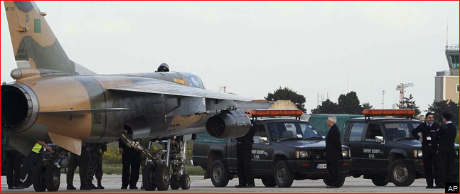 VALLETTA, Malta -- Two Libyan air force jets have arrived in Malta and
