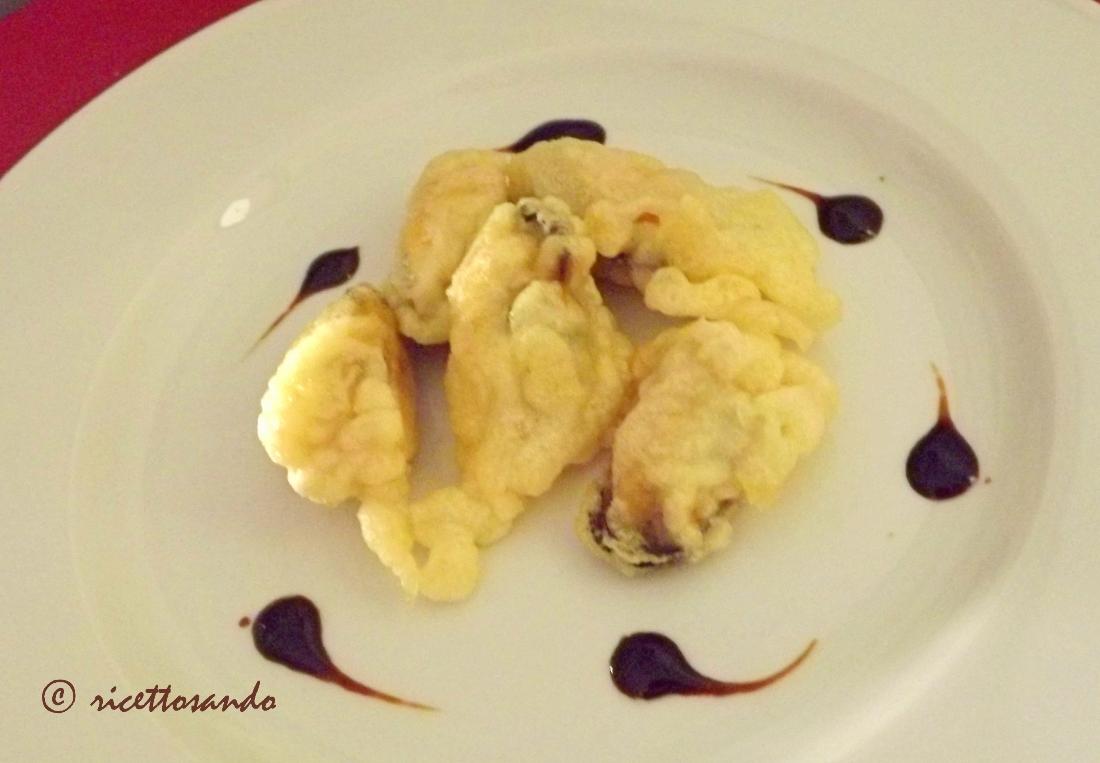 Cozze in pastella rcetta secondi pesce o antipasti