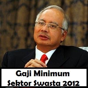 Najib umum gaji minimum sektor swasta