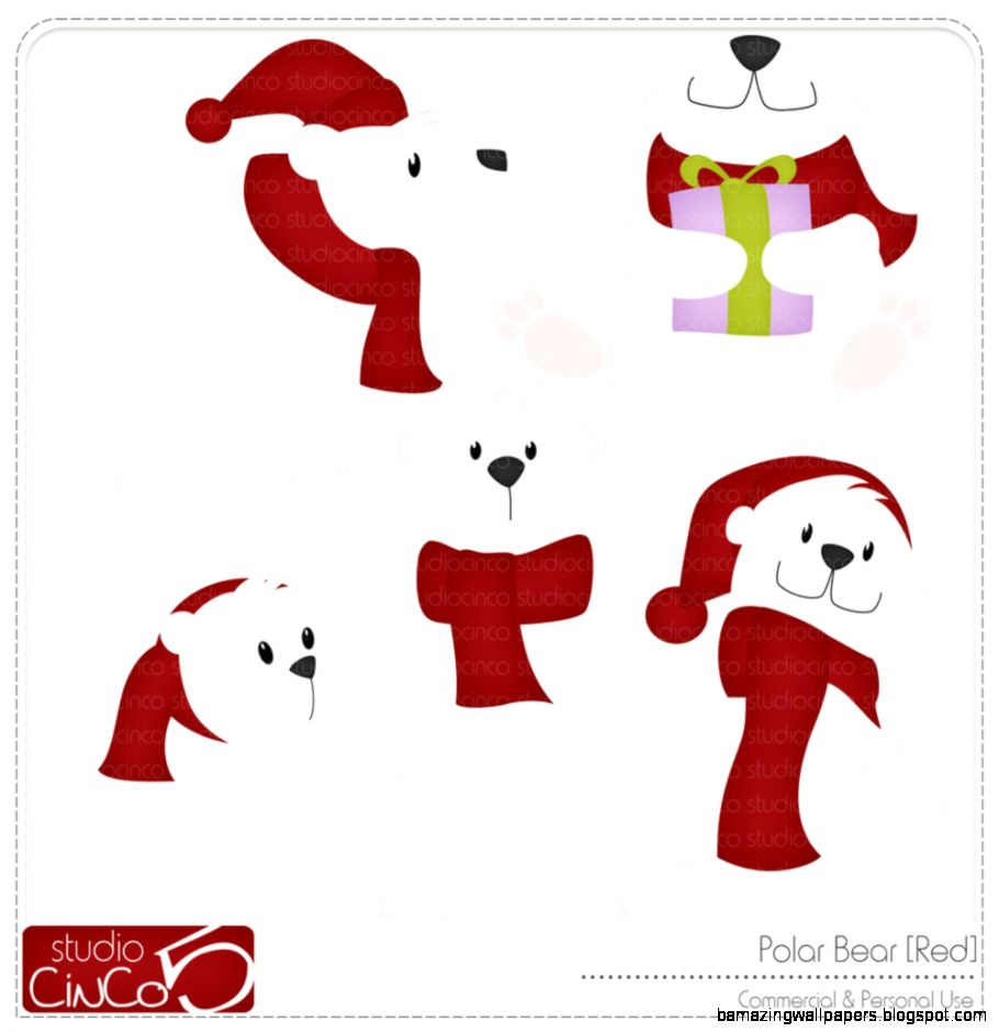 Cute Polar Bear Christmas Clipart   Clipart Kid
