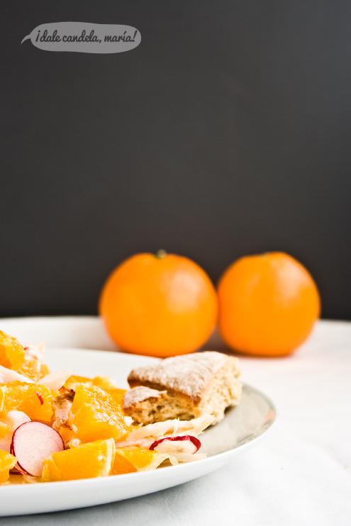 Receta ensalada de naranjas con bacalao