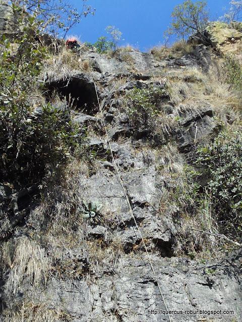 Descenso de ~40 metros antes de llagar al arroyo La Soledad