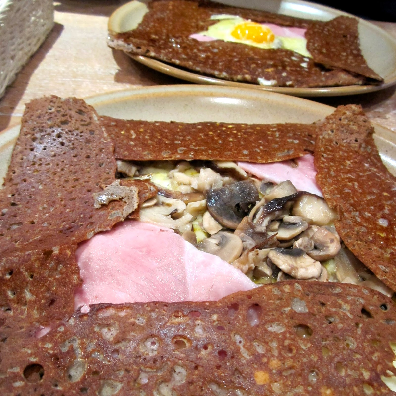 Buckwheat galettes crepes Breizh Cafe Paris France