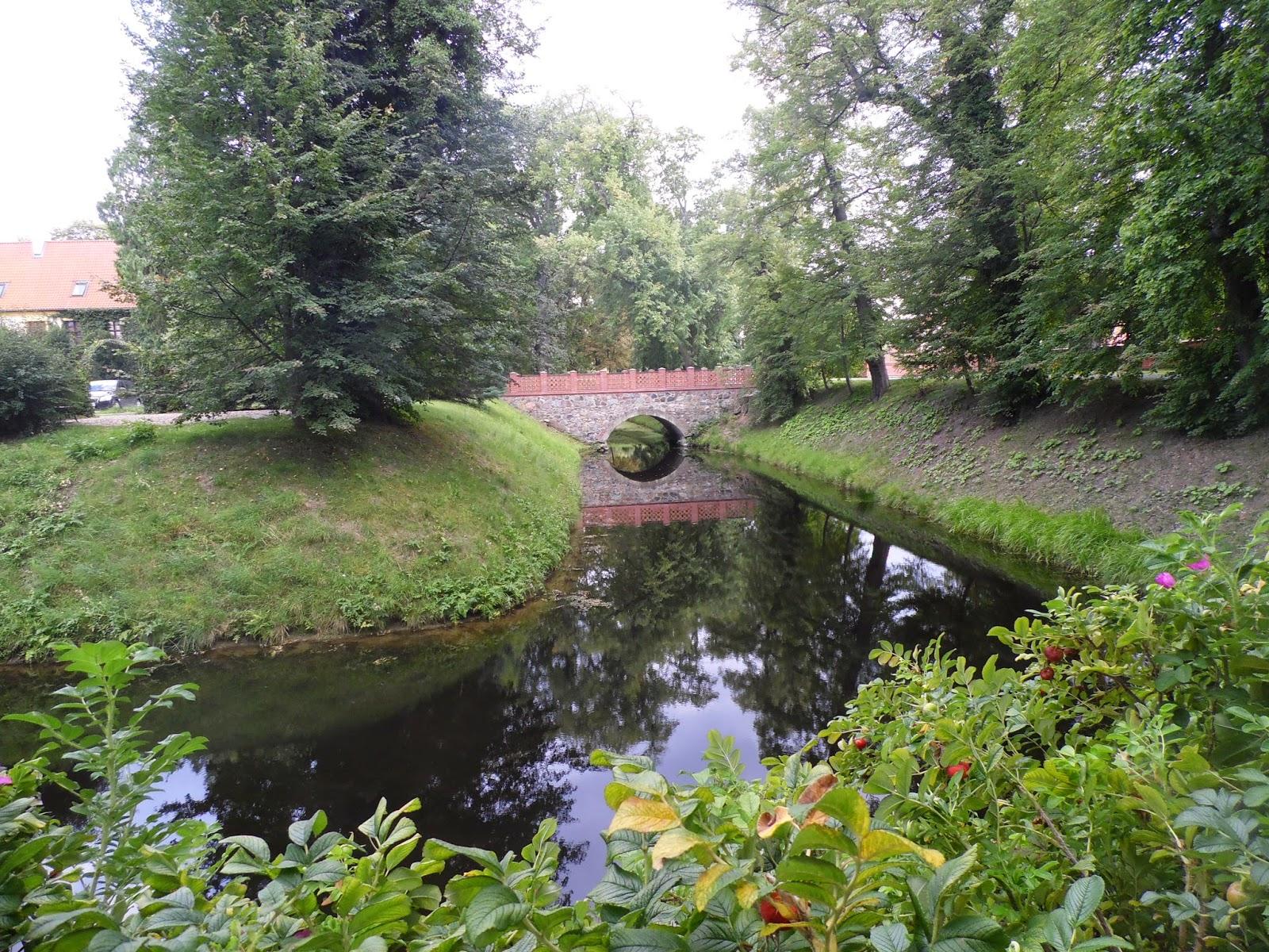 Park koło pałacu - Krokowa