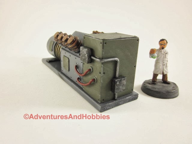 Mad science laboratory power generator - side view 3