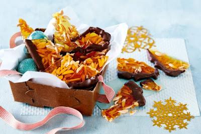 Chocolate-dipped almond brittle Recipe