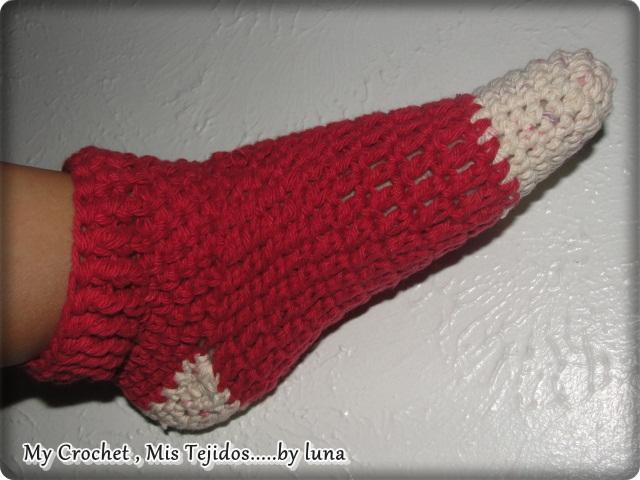 Aprendiendo a tejer medias hasta el tobillo. /Learning to crochet ...
