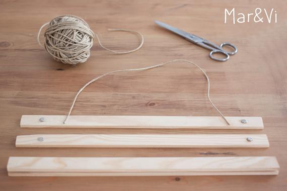 DIY: colgador para láminas de madera paso a paso